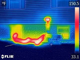 Thermal camera, thermal images, water loss, heat building, drying out, dry property, pipe break